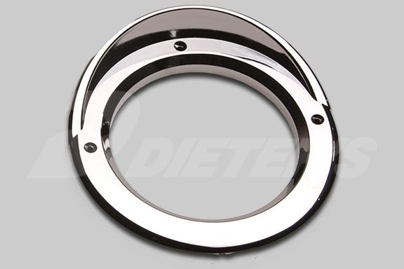 4″ Round Chromed Plastic Light Bezel With Visor image