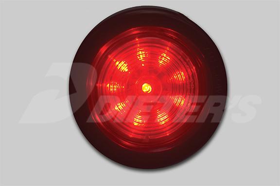 2″ Round Starburst Red LED Light image