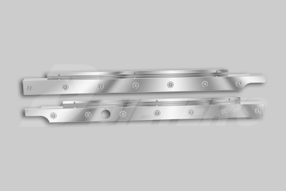 Underbody Exhaust 579 123″ BBC Cab Skirts With Block Heater Cutout image