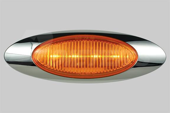 M1 Amber LED Turn Signal Light With Bezel image