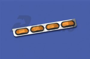 Freightliner XL Four-Bulb Oval Light Bar (DML DUA069)