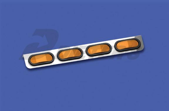 Freightliner XL Four-Bulb Oval Light Bar image