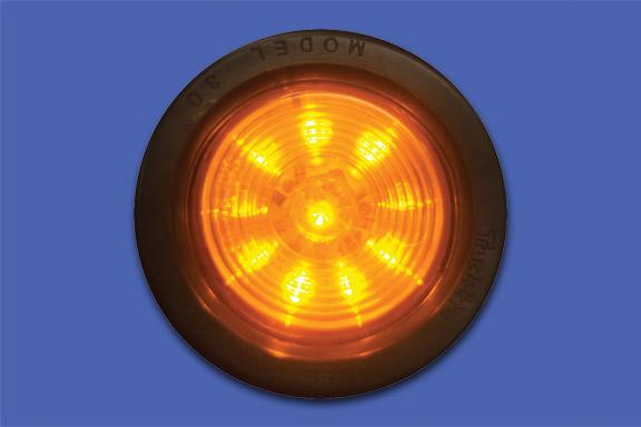 2″ Round Starburst Amber LED Light image