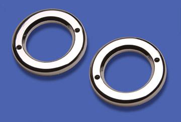 2″ Round Chromed Plastic Light Bezels Bulk Pack image