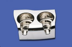 Chromed Dual Cup Holder MC4362