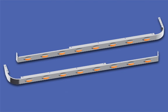 58″ Sleeper Panels with Extenders For Dual Cab Exhaust image