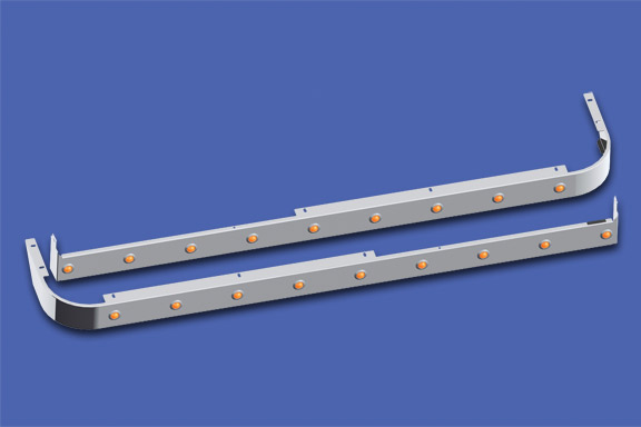 44″ Sleeper Skirts With Extenders For Cab Mount Exhaust image