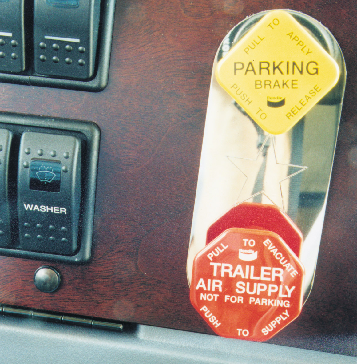 Park Brake Control Valve Trim Plate image