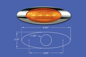 M1 Amber LED Turn Signal Light With Bezel MD8547