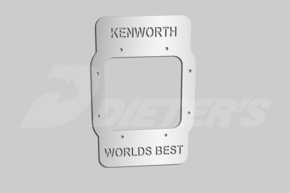 """KENWORTH WORLD'S BEST"" Cutout Shifter Base Plate image"