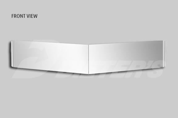 Ultracab Curved Glass Boltless Sunvisor – 13.5″ image