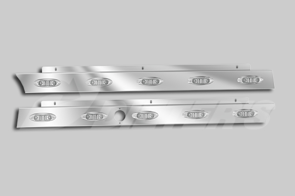 Cab Skirts with P168 Lights for SFA Models with Block Heater image
